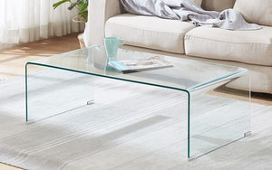Bent Glass Coffee Table - Clear