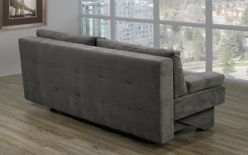 Fabric Sofa Bed with Storage - Grey