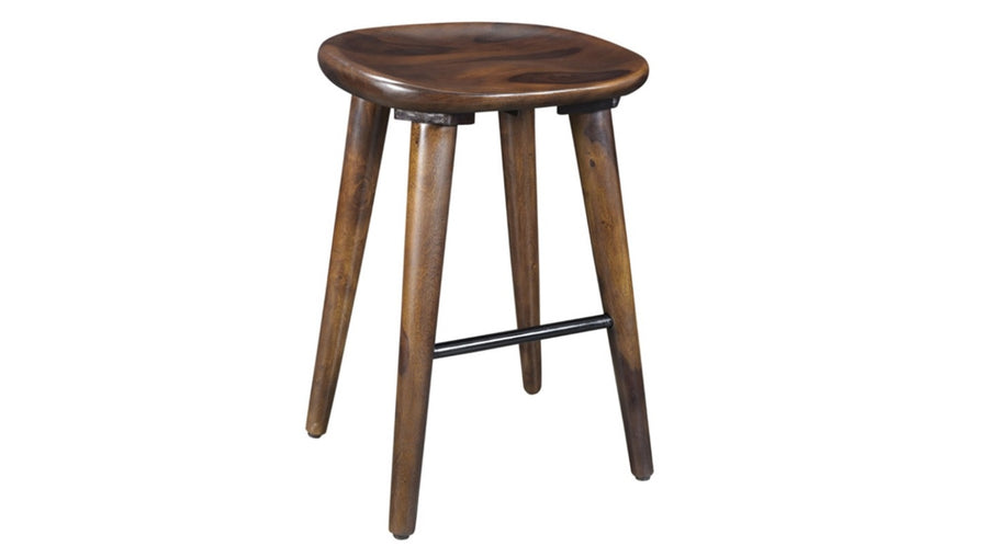 Bar Stool With Wooden Legs - Natural Wood | Walnut