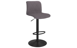 Bar Stool With High Back & 360° Swivel Fabric Seat - Beige | Grey | Blue-Grey