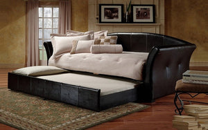 Day Bed with Twin Trundle - Black