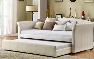 Day Bed with Twin Trundle - White