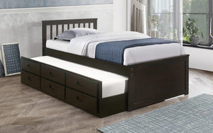 Platform Bed with Trundle - Espresso