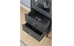 Wine Rack with Cabinet - Grey