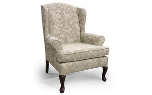 Accent Chair with Wing Back - Light Grey