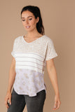 All Mixed Up Top In Lavender