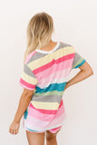 Aurora Striped V-Neck