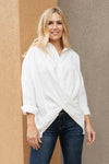 Carlee Crossed Hem Blouse