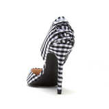 Criss Cross Checkered Pump