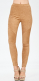 Probably Not Faux Suede Moto Legging