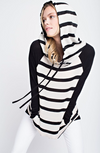 Double The Fun Striped Hoodie