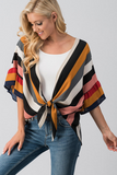 Stripe Out Mustard Cardigan
