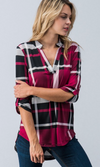 At The Office Plaid Tunic