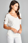 Days With You Cold Shoulder Top