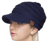 Knit CC Beanie With Brim