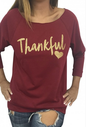 November Thanks Boatneck Shirt