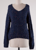 Bring The Confetti Sweater - Navy