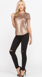 Time To Shine Sequin Top