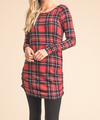 Christmas Is Coming Ruched Plaid Top
