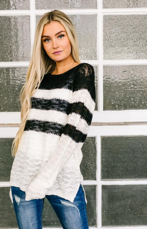 Rise To The Occasion Striped Sweater