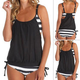 Striped Spliced Tankini Wonder