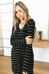 Stripes For Likes Dress in Black