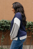 The Bridget Block Top in Navy