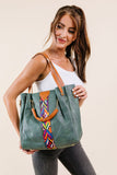 City Chic Tote In Green