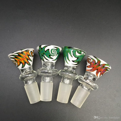 Heady Herb Slide Glass Bowl Male 14mm 18mm