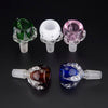 Colored Bowl Clear Dragon Claw Style Herb Holder with 14mm/19mm