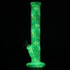 Glow in the dark alien style silicone bong