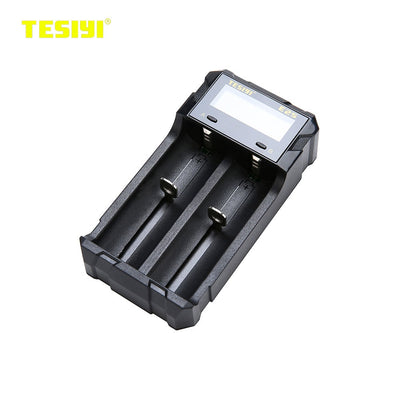 Original TESIYI E2S Intelligent Battery Charger W/ Two Battery Slot  Quick Charger
