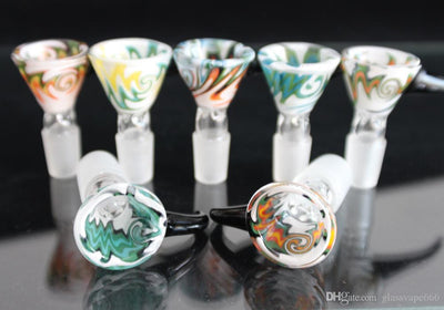 Heady Colored Glass Smoking Bowl