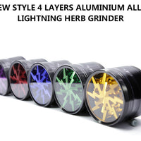 Lighting Grinder 100% Aluminium Alloy With Clear Top Window