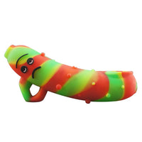 Funny Rick Silicone Pipe With Metal Bowl
