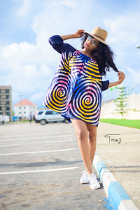 Umi African print tye and dye dress - Afrothrone