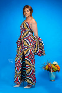 Funke African print dress - Afrothrone
