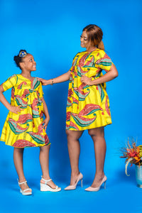 The Lami African print dress - Afrothrone