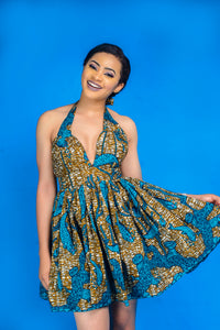 The Chika African print wax Ankara infinity dress - Afrothrone