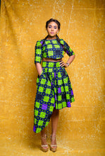 Load image into Gallery viewer, Ore African print Ankara set (Skirt and crop top) - Afrothrone
