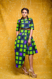 Ore African print Ankara set (Skirt and crop top) - Afrothrone