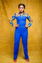 Ruka African print Ankara mix jumpsuit - Afrothrone