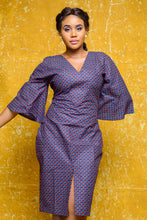 Load image into Gallery viewer, The Luchi African print Ankara dress - Afrothrone