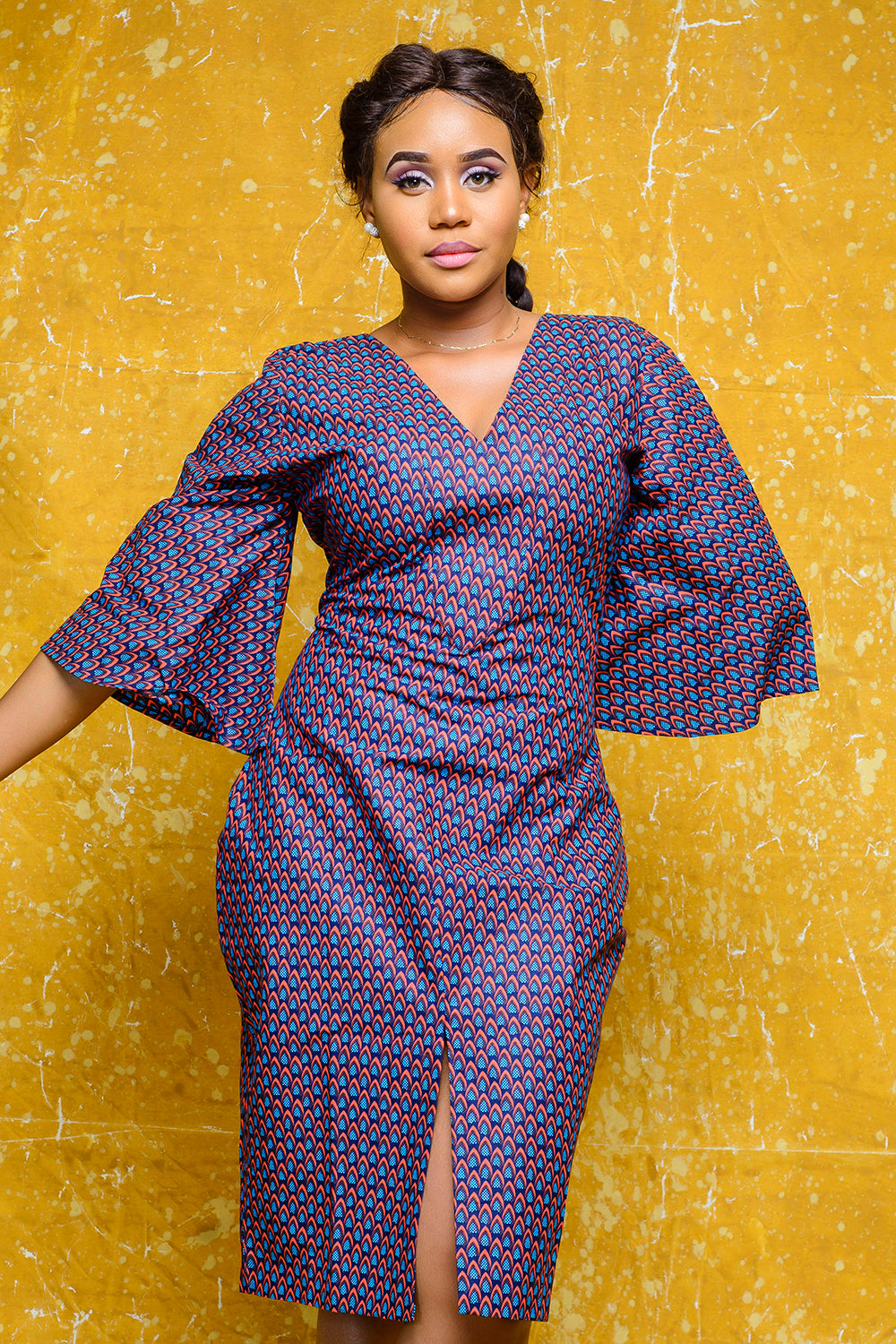 The Luchi African print Ankara dress - Afrothrone