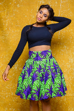 Load image into Gallery viewer, Amaka African Print Ankara Skirt - Afrothrone