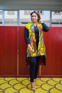 Ginika African Print Ankara Two Way reversible Kimono Jacket - Afrothrone
