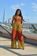 Load image into Gallery viewer, Monica African Print Ankara jumpsuit - Afrothrone