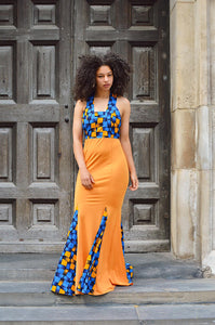 Paragon African Print maxi dress - Afrothrone