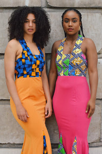 Kali Africa print Ankara maxi dress. - Afrothrone