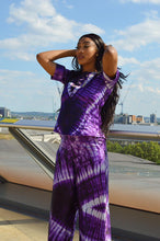 Load image into Gallery viewer, Mitchell African print tie dye satin 2 piece matching set - Afrothrone